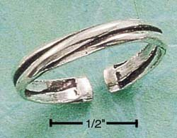 RG047-STERLING SILVER TRIPLE BAND THUMB RING