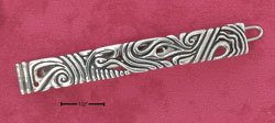 RG246-STERLING SILVER ANTIQUED SWIRL DESIGN HAIR CLIP WITH SNAP CLOSURE