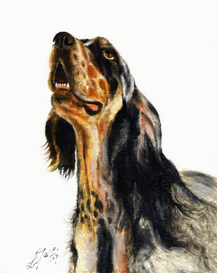 � Original Oil DOG Art Portrait Painting ENGLISH SETTER