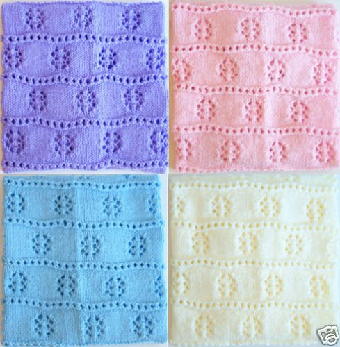 �NEW Handmade Knit Crochet BABY Afghan Blanket Throw #3