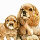 ★ ORIGINAL Oil DOG Portrait Painting COCKER SPANIEL ★
