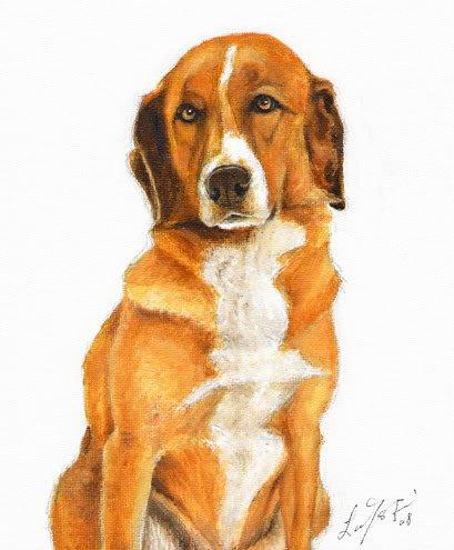 � Original DOG Oil Portrait Painting AUSTRIAN PINSCHER