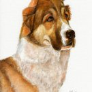 ★ Original Oil DOG Portrait Painting RUSSIAN SHEEPDOG ★
