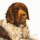 ★ Original Oil DOG Portrait Painting WETTERHOUN Artwork