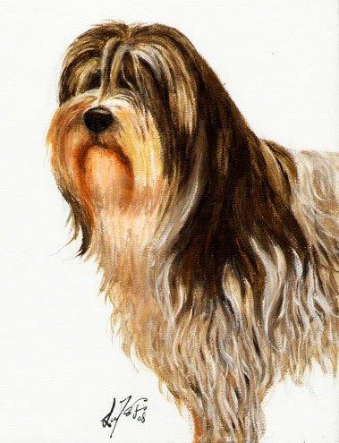�Original Oil Portrait Painting POLISH LOWLAND SHEEPDOG