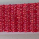 Beaded Bracelet - Red, right angle weave, 7inch, Handmade