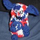 Decorative Patriotic Dog Container