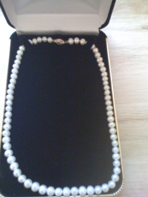 HIGH-QUALITY ROUND WHITE PEARLS NECKLACE 6.1MM