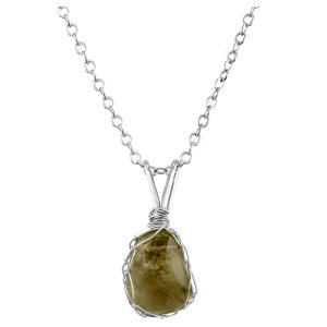 Small Smokey Quartz Mini Charlotte Pendant in Sterling Silver