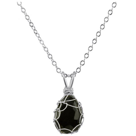 Small Blue Goldstone Mini Charlotte Pendant in Sterling Silver