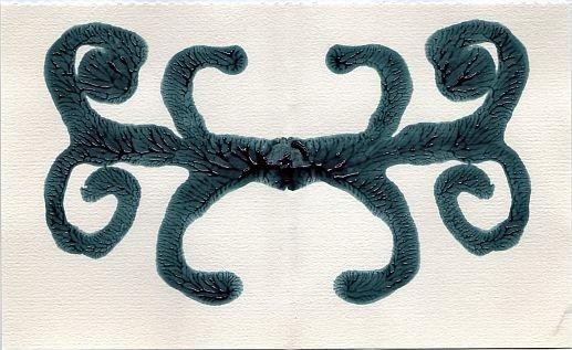 Scrolls Inkblot 4X6