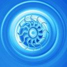 Sun Metallic Blue 8X10
