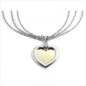 Two-Tone Heart Necklace