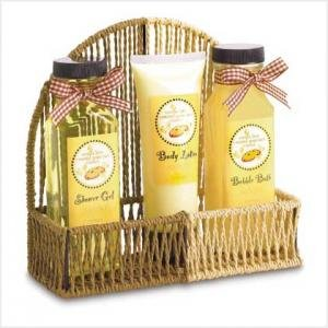 Vanilla Caramel Bath Set