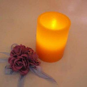 LED Tea Light Wax Holder 10cm - Orange