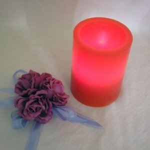 LED Tea Light Wax Holder 10cm - Red