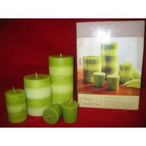 Honeydew Melon, 5-pc Candle Set