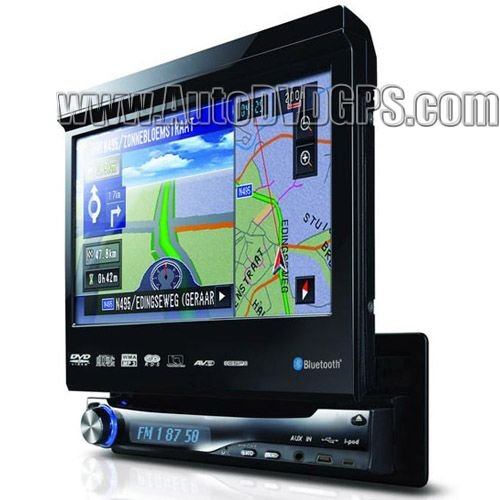 Single DIN Car GPS DVD player Bluetooth Ipod TV 1 Din DVD GPS Navigation