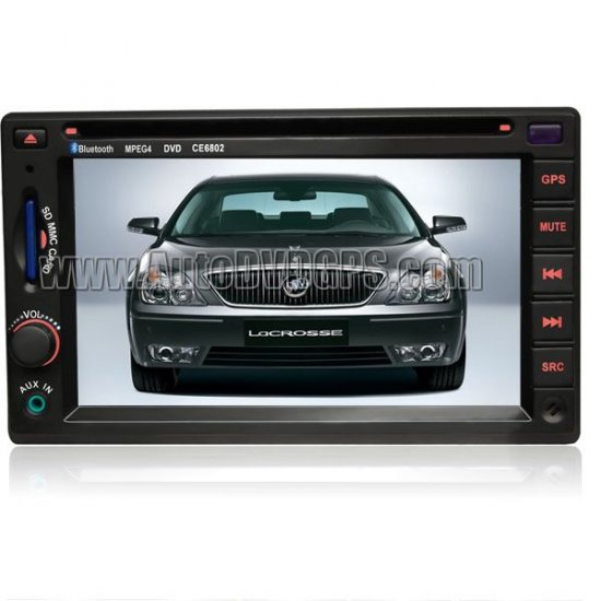 "6.2"" touchscreen Car DVD player with builtin GPS navigation for Buick Lacrosse"