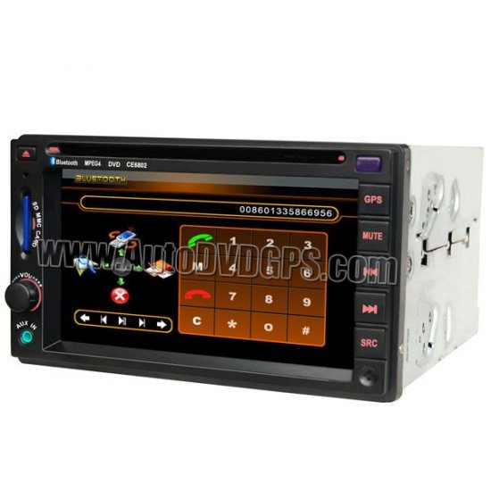 VW Sagitar Caddy Touran DVD player with built-in GPS navigation