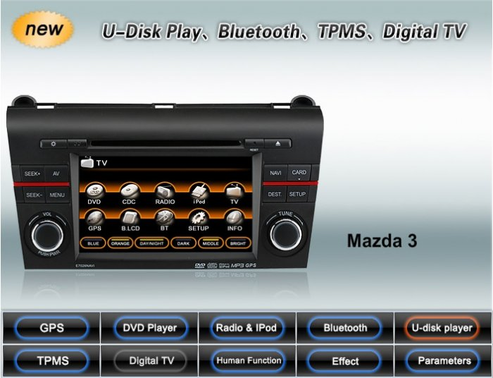 Advanced All-In-One Car DVD GPS Navigation system for MAZDA 3