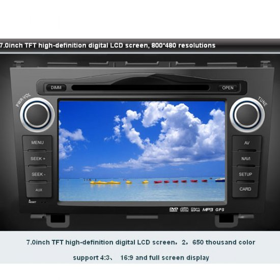 "Advanced Car DVD GPS Navigation system for Honda CRV with 7"" Digital touchscreen + Dual Zone + CDC"