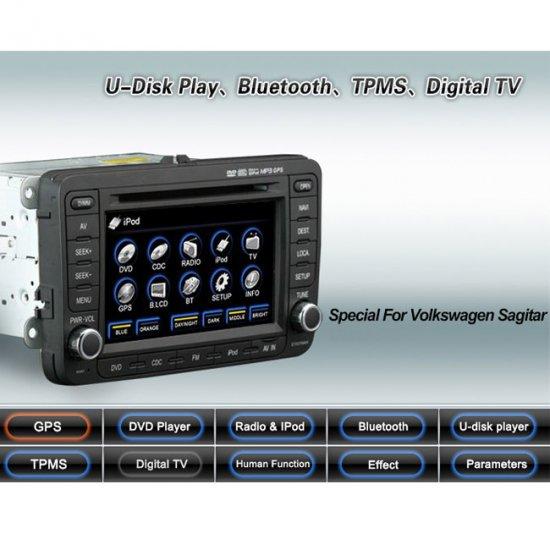 Advanced & High Quality 2 Din Car DVD GPS Player for VW SAGITAR + IPOD ready Bluetooth