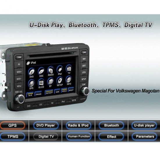 Advanced & High Quality Car DVD GPS Player for VW Magotan+ IPOD ready Bluetooth