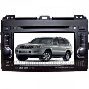 "Digital High Resolution 7"" Touchscreen Dual-Zone Car DVD GPS Player for Toyota Prado+ RDS"