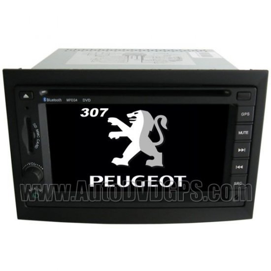 Peugeot 307 Car DVD player with built-in GPS navigation + Steering Wheel control + Specail frame