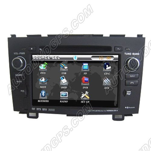 Honda CRV Car DVD GPS Navigation Video Audio Radio with 7 inch Digitla touchscreen