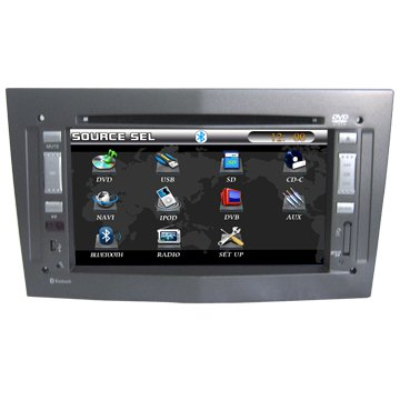 "Car DVD player with built-in GPS navigation and 7"" LCD touchscreen Bluetooth Radio for Opel Vectra"