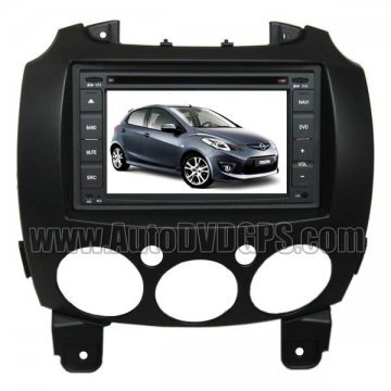 """OEM Mazda 2 DVD GPS Navigation player with 6.2"""" Digital HD touchscreen + PIP RDS Bluetooth iPod"""