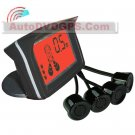 Wireless Car Reverse Backup Parking Radar 4 Sensors