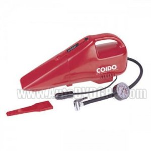 COIDO Car Portable High-Power Vacuum Cleaner and Tire Inflator with Tire Gauge