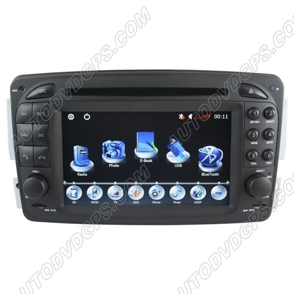 HD touchcreen DVD-based Navigation System with iPod BT for Mercedes-Benz Viano/CLK--C209