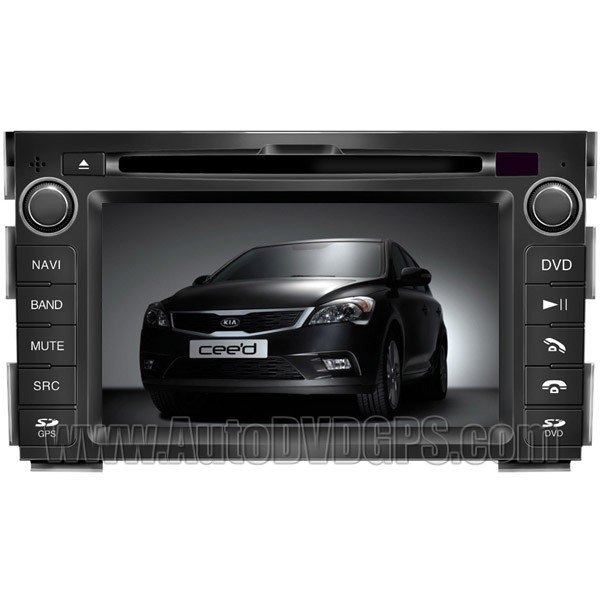 "CED786 7"" HD Touch screen DVD GPS Navigation Player with PIP RDS iPod V-CDC for KIA CEED"