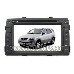 "2009-11 Kia Sorento DVD GPS Navigation Player and 7"" HD Touchscreen and SWC iPod PIP RDS Virtual-CDC"