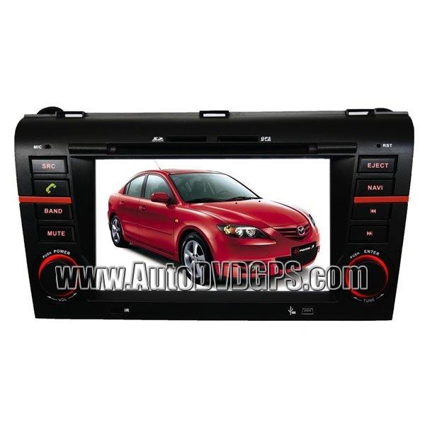 "04-09 Mazda 3 DVD Player + GPS Navigation system + 7"" Digital Touchscreen + Steering Wheel control"