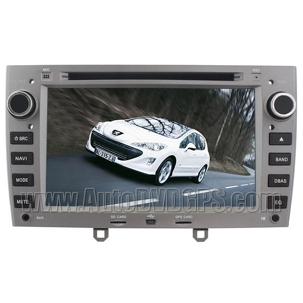 "PGT238 Peugeot 308 DVD Navigation Systems with 7"" Digital Touch screen and iPod SWC BT RDS"