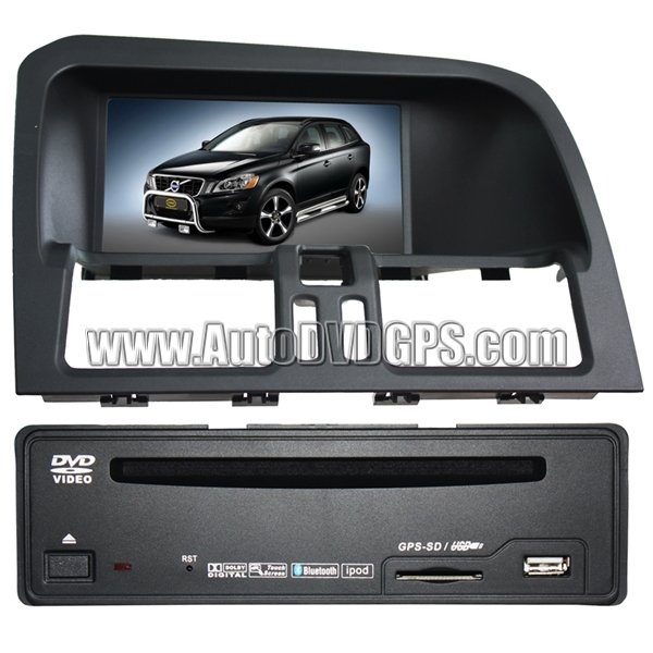 "VOV277 Volvo XC60 Navigation system+7""Digital Touchscreen/DVD Playback/USB SD + CAN-BUS Box Control"