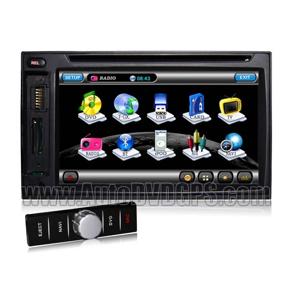 UDG702D  Detachable Auto DVD Stereo with GPS Navigation and Digital Monitor and Bluetooth