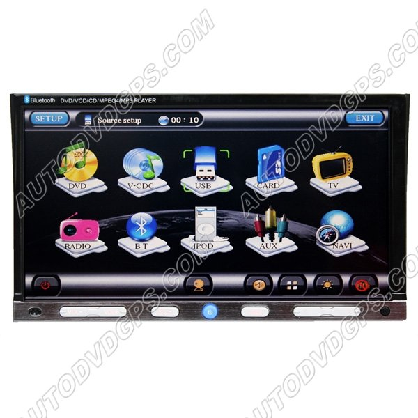 """UDG728D  2 din Car DVD Player with GPS Navigation System and 7"""" Digital HD touchscreen"""