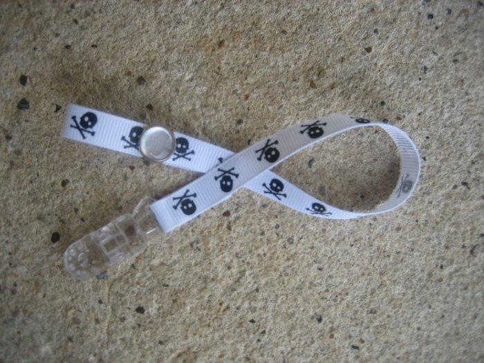 Sassy Straps Pacifier Pal - Punk Rock - Skulls