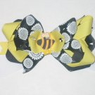 Bumble Bee Hair Bow Yellow & Black