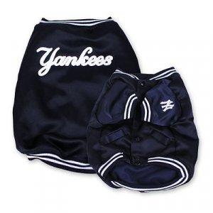 New York Yankees Official MLB Dougout Dog Jacket Coat Size X-Large