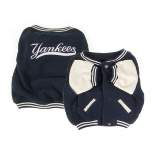 New York Yankees Varsity Style Dog Jacket Coat Size Large