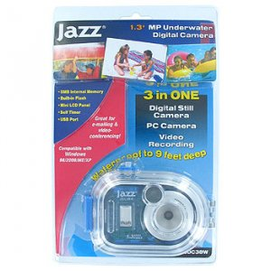 JAZZ® 1.3MP WATERPROOF 3 IN 1 UNDERWATER DIGITAL CAMERA