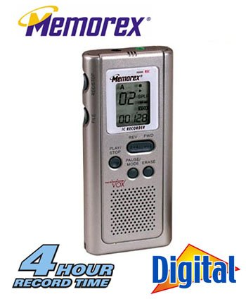 MEMOREX® DIGITAL VOICE RECORDER