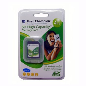 FIRST CHAMPION® 4GB SD MEMORY CARD